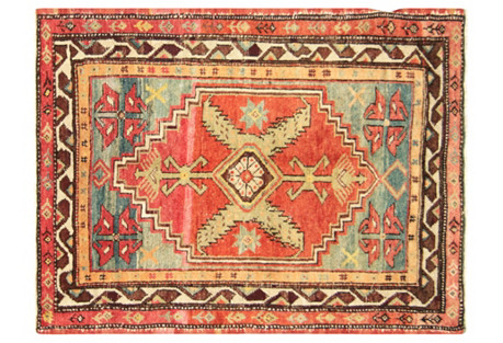 Turkish Oushak Rug, 2'10
