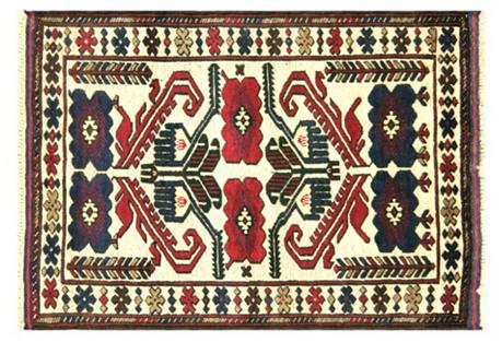 Afghan Balouch Rug, 2'9