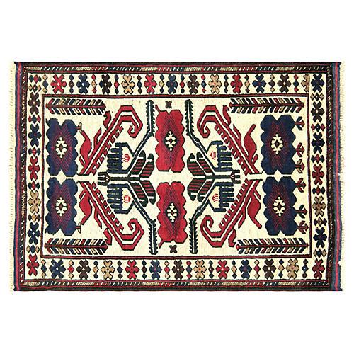 """1980s Afghan Baluch Rug, 2'9"""" x 4'2"""""""
