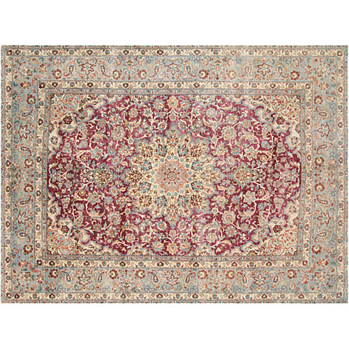 "Persian Distressed Carpet, 9'7"" x 13'1"""