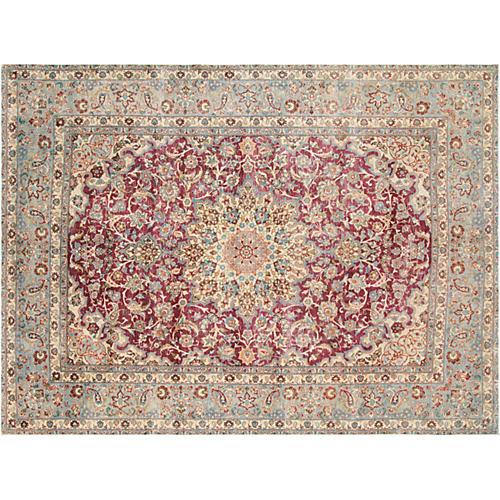 "1950s Persian Kerman Carpet, 9'7"" x13'1"""
