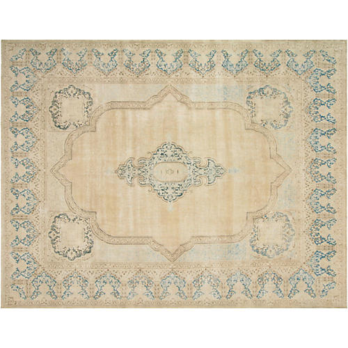 "Persian Distressed Carpet, 10'4"" x 13'1"""