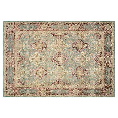 "Antique Persian Kerman Rug, 8' x 11'9"""