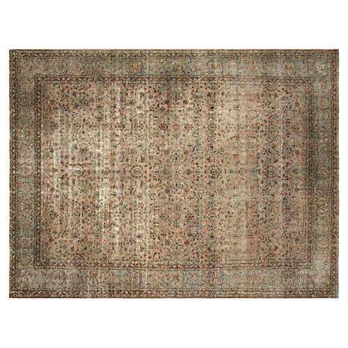 "Persian Kashan Carpet, 11' x 14'5"""