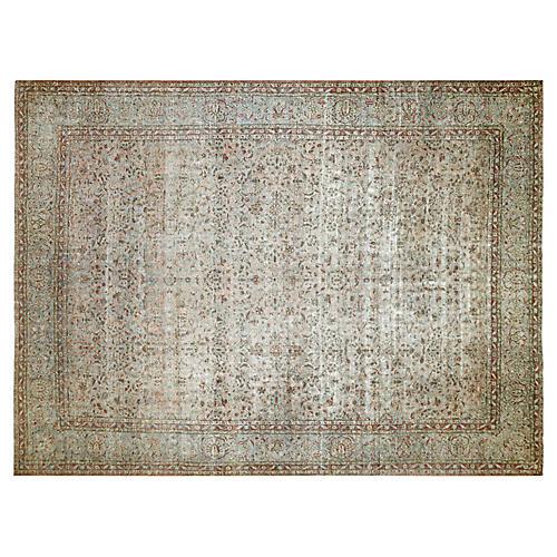 """1940s Persian Kashan Carpet, 11' x 14'5"""""""