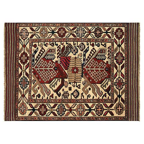"""1980s Afghan Baluch Rug, 4'4"""" x 6'1"""""""
