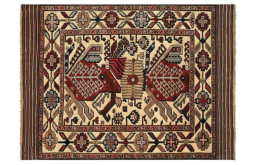 1980s Afghan Baluch Rug, 4'4