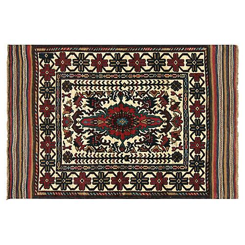 """1980s Afghan Baluch Rug, 4'1"""" x 6'1"""""""