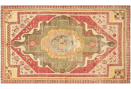 Anatolian Oushak Rug, 4'4