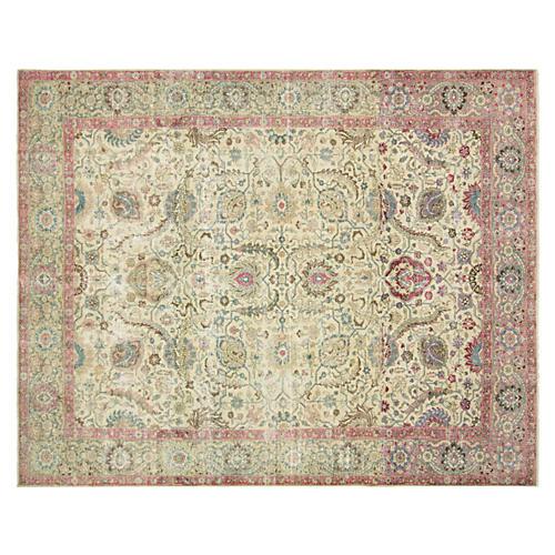 "Persian Tabriz Carpet, 9'7"" x 12'1"""