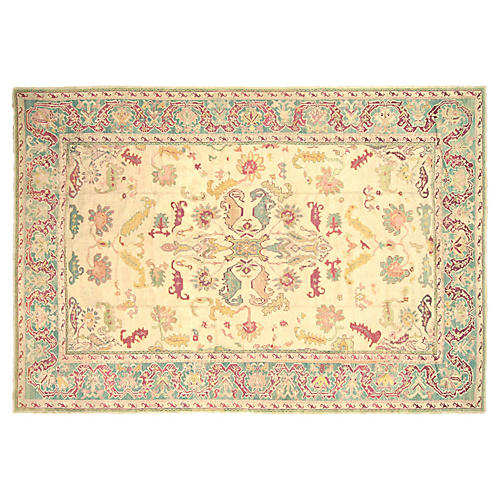 "Turkish Oushak Carpet, 10'10"" x 15'6"""