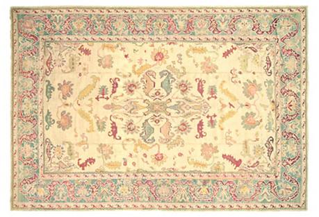 Turkish Oushak Carpet, 10'10