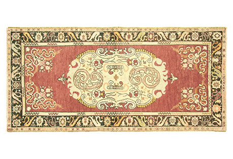 Turkish Oushak Rug, 3'3