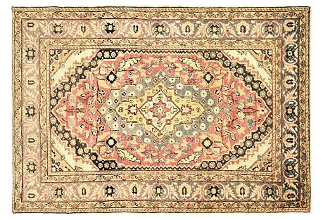 Anatolian Oushak Rug, 4'3
