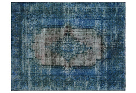 Persian Overdyed Carpet, 9'6