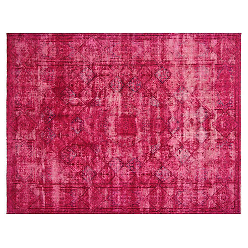 "1950s Overdyed Persian Rug, 9'5"" x 12'4"""