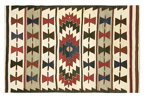 Anatolian Turkish Kilim, 4'6