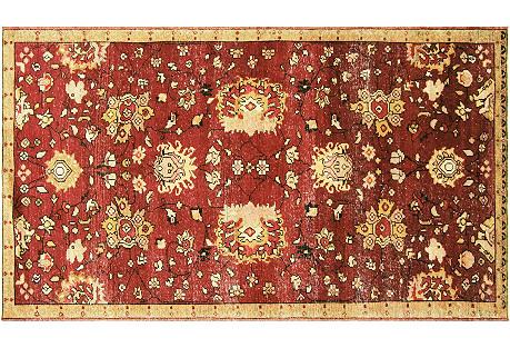 Anatolian Oushak Rug, 4'10
