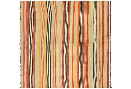 Striped Anatolian Kilim, 4'1