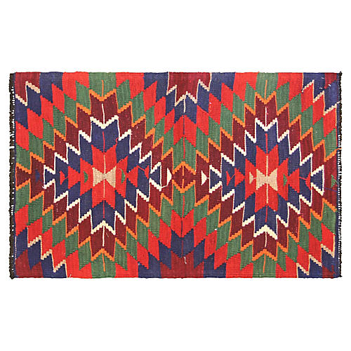 "1950s Turkish Kilim, 2'6"" x 3'11"""