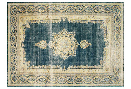 Distressed Persian Carpet, 8' x 11'4