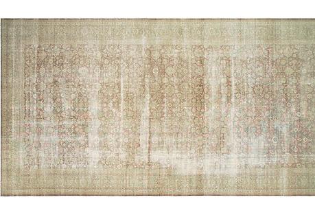 Distressed Turkish Gallery Rug, 12'8x26'