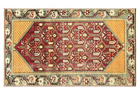 Turkish Oushak Rug, 3' x 5'2