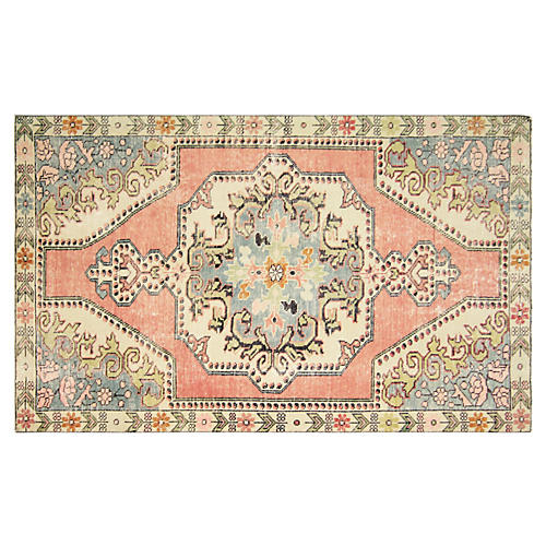 "Turkish Oushak Rug, 4'3"" x 7'"