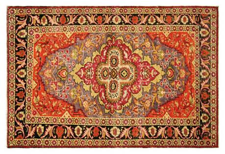 Turkish Oushak Rug, 4' x 6'3