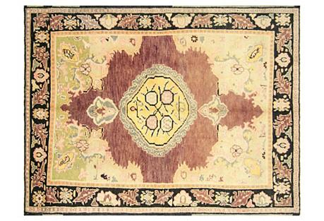 Turkish Oushak Rug, 6' x 7'11