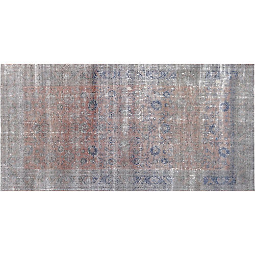"""1920s Oushak Carpet, 9'1"""" x 17'11"""""""
