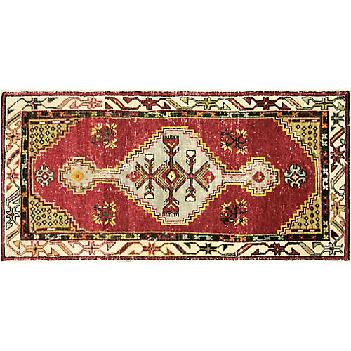 "1960s Turkish Oushak Rug, 2'7"" x 5'4"""