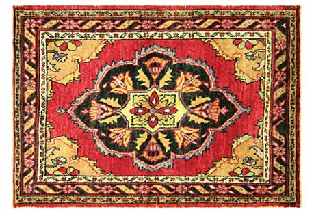 Anatolian OUshak Rug, 3'9