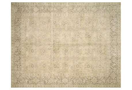 Persian Distressed Carpet, 9'7