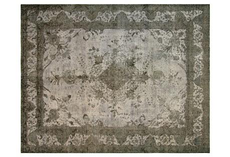 Overdyed Persian Carpet, 8'9