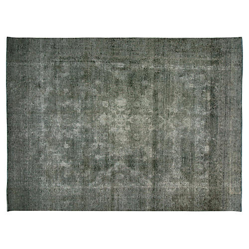 """1940s Overdyed Persian Rug, 8'9"""" x11'10"""""""