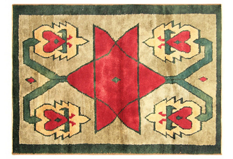 Turkish Tulu Rug, 4'7