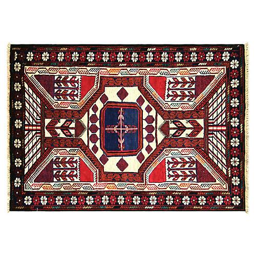 """Afghan Balouch Rug, 2'10"""" x 4'4"""""""