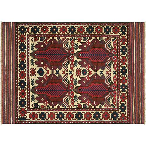 """1980s Afghan Baluch Rug, 4'5"""" x 6'4"""""""
