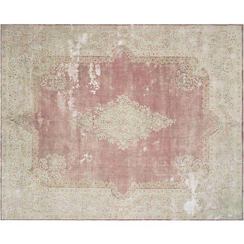 "Persian Distressed Carpet, 10'11""x13'5"""