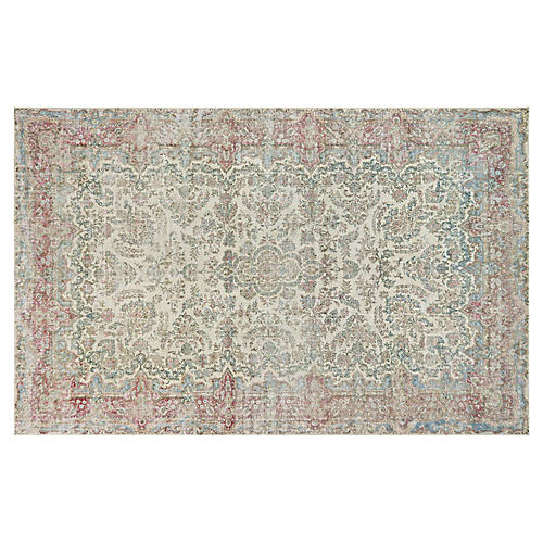 "Persian Distressed Carpet, 10'8"" x 17'"