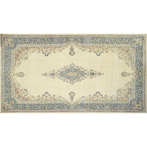 "Persian Distressed Carpet, 11'8"" x 22'"