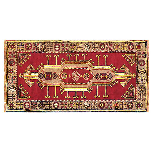 "1960s Turkish Oushak Yastik, 1'9"" x 3'4"""