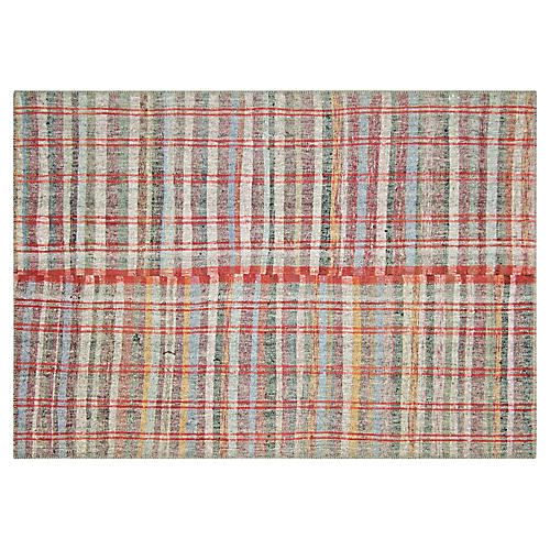 "1960s Turkish Hemp Kilim, 5'5"" x 8'1"""