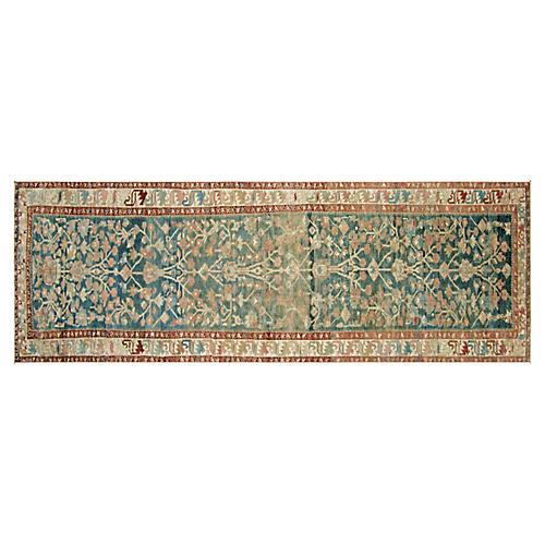 1920s Persian Malayer Runner, 3' x 11'2""
