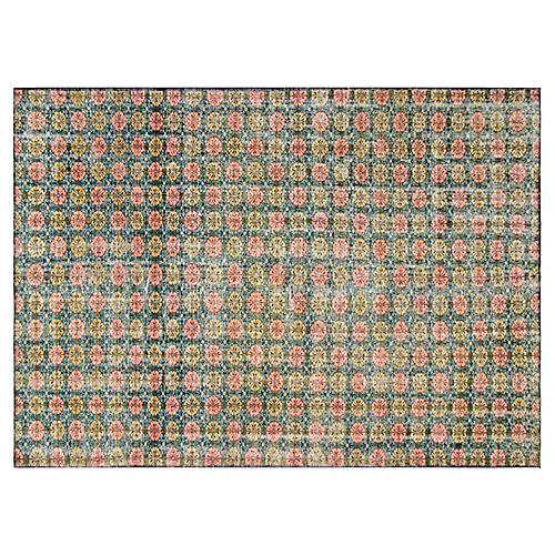 1960s Turkish Zeki Müren Rug, 7' x 10'