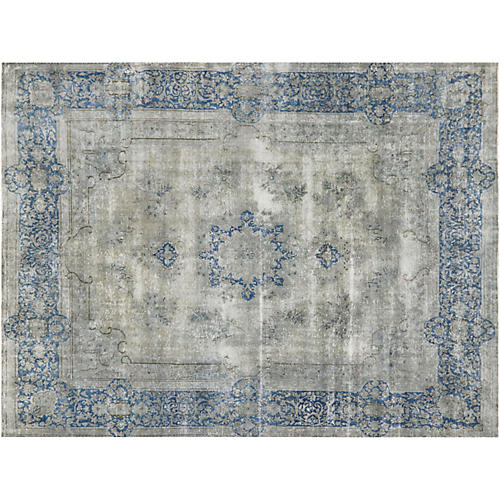 "Persian Distressed Carpet, 9'6"" x 12'5"""