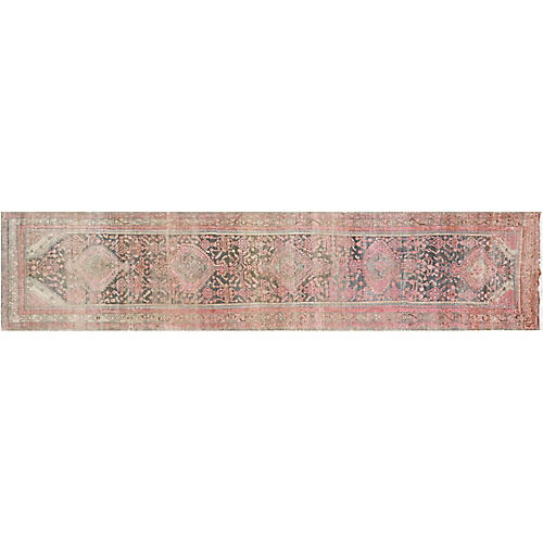"1920s Persian Malayer Runner, 3'6"" x 16'"