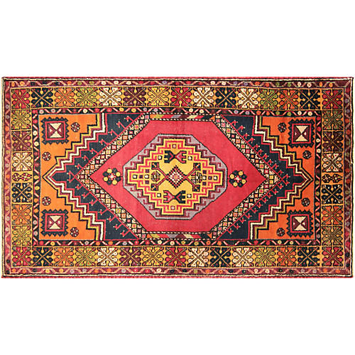 "1960s Turkish Oushak Rug, 3'7"" x 6'6"""