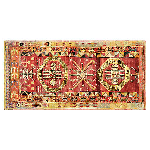 "1960s Turkish Oushak Rug, 3'10"" x 7'8"""